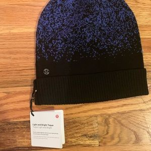lululemon athletica Accessories - Lululemon blue & black winter running beanie